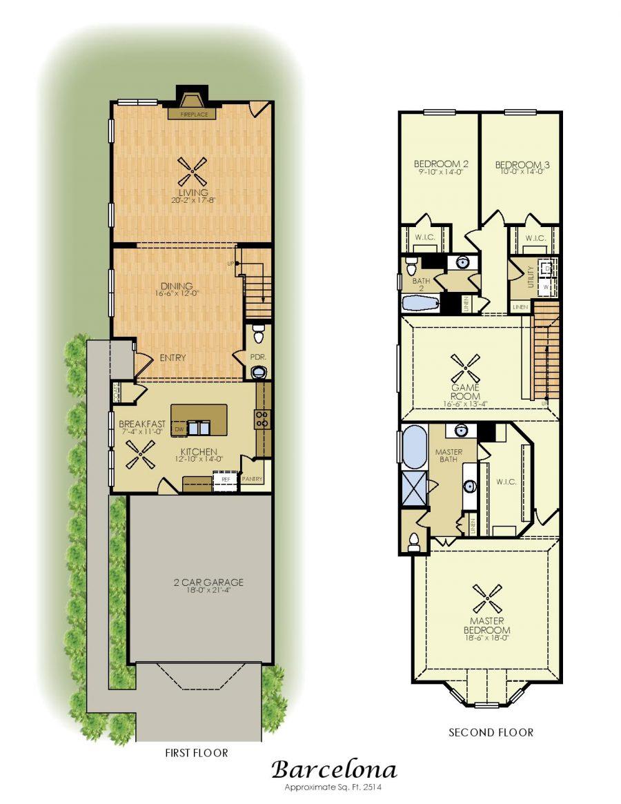 Barcelona 2 Story House Plan