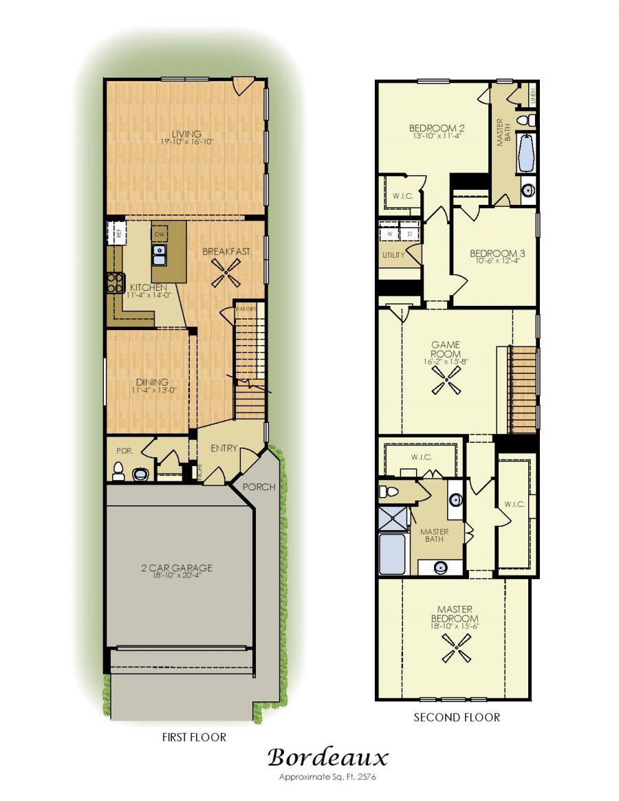 Bordeaux 2 Story House Plan