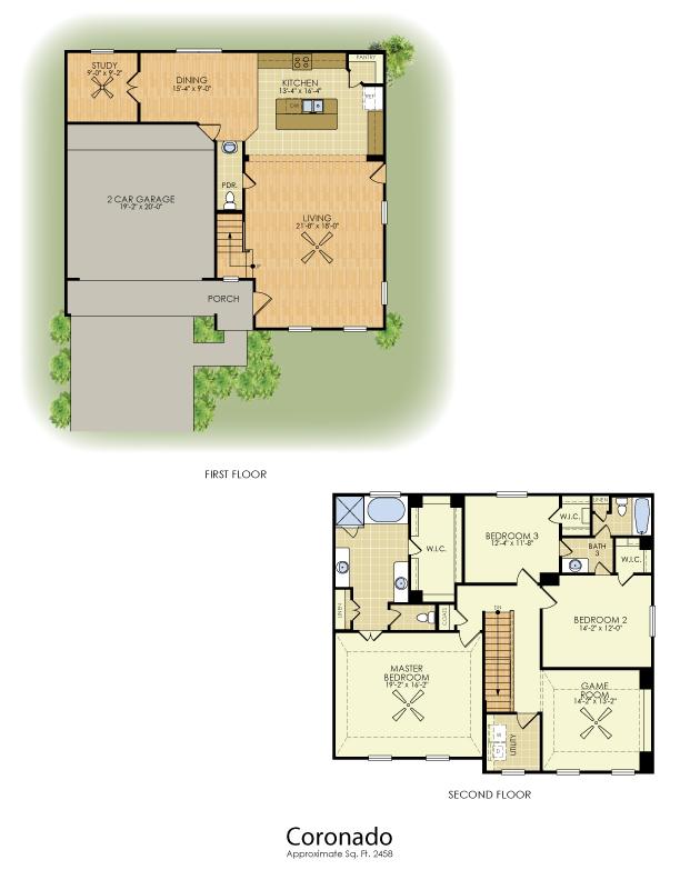 Coronado 2 Story House Plans