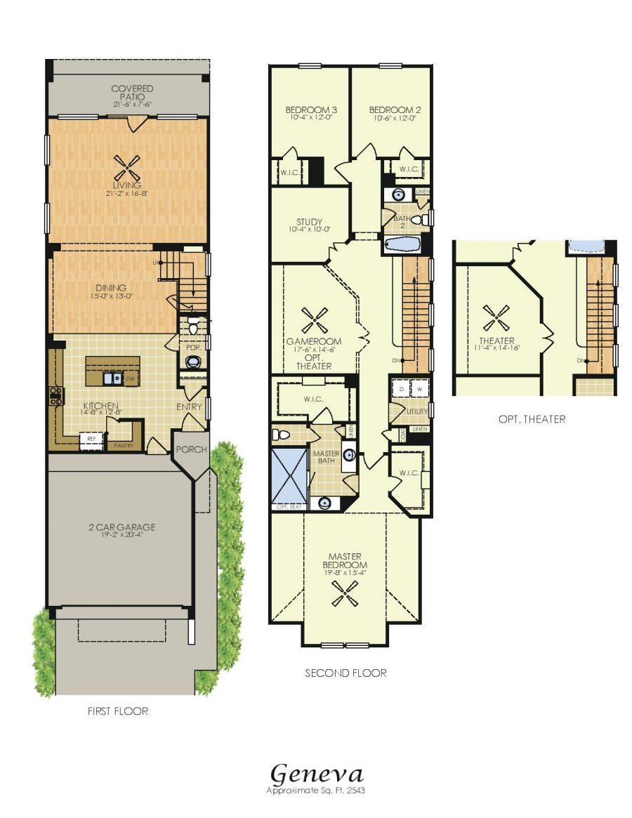 Geneva 2 Story House Plans