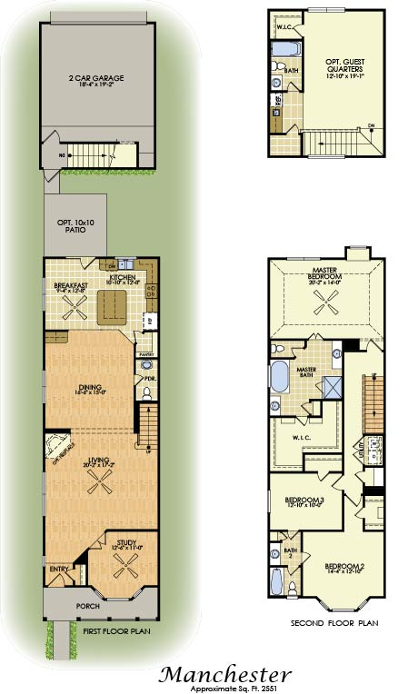 Manchester 2 Story House Plans