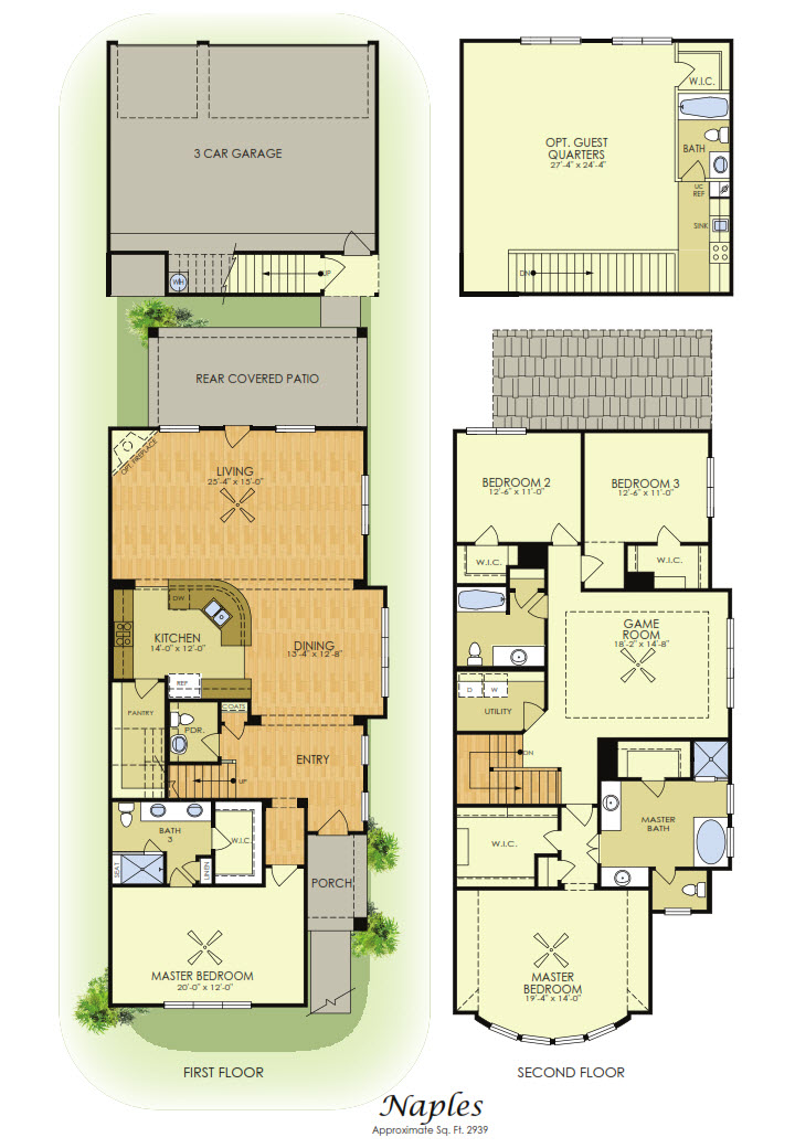 Naples 2 Story House Plans