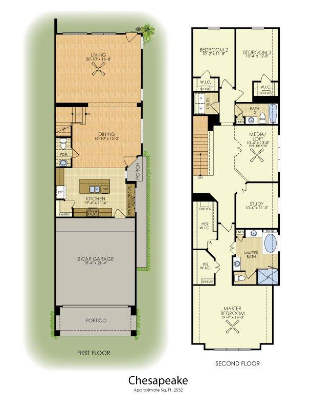 Chesapeake 2 Story House Plans