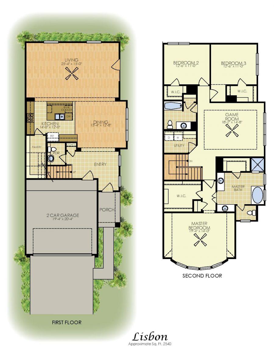 Lisbon 2 Story House Plans